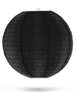 zwarte nylon lampion 35cm